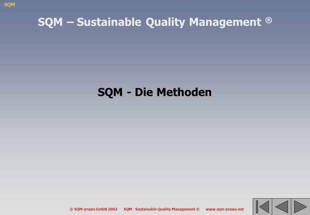 SQM – Sustainable Quality Management ®