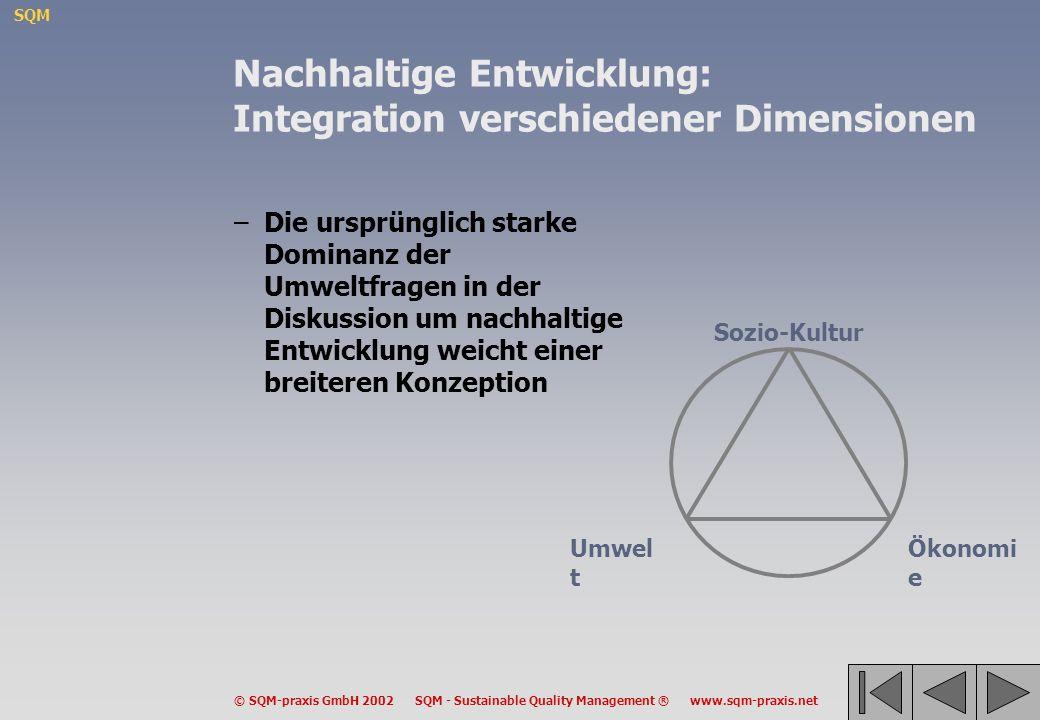 Nachhaltige Entwicklung: Integration verschiedener Dimensionen
