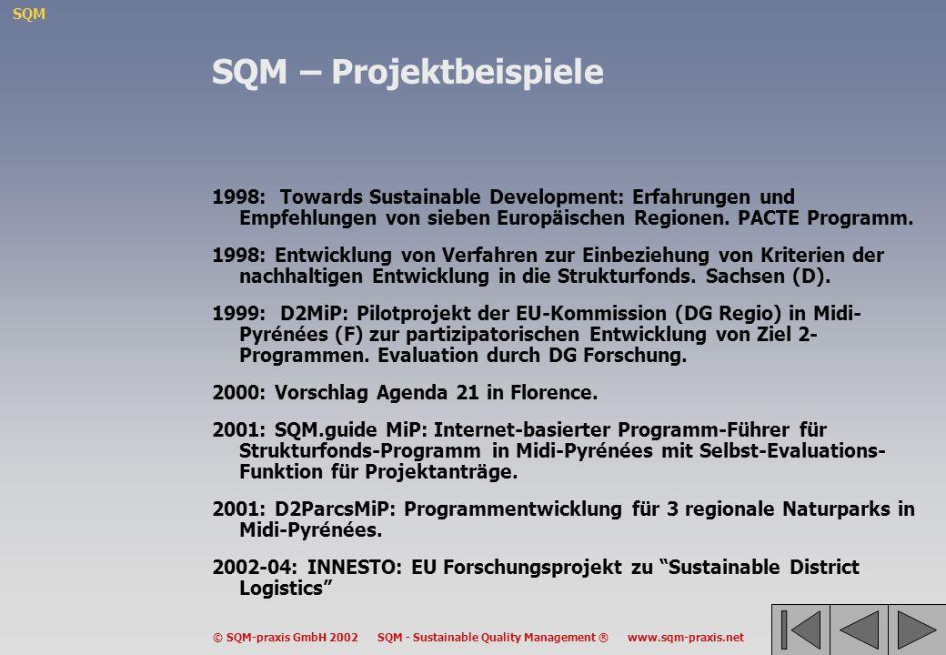 SQM – Projektbeispiele