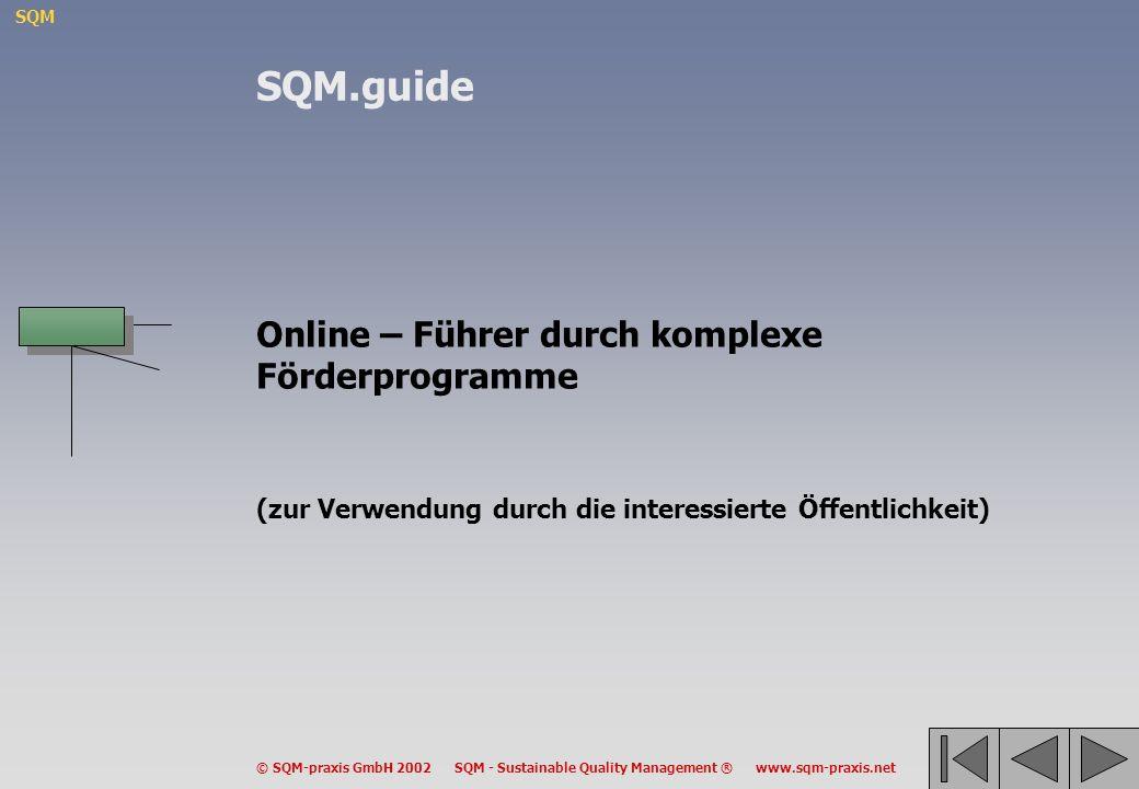 SQM.guide Online – Führer durch komplexe Förderprogramme