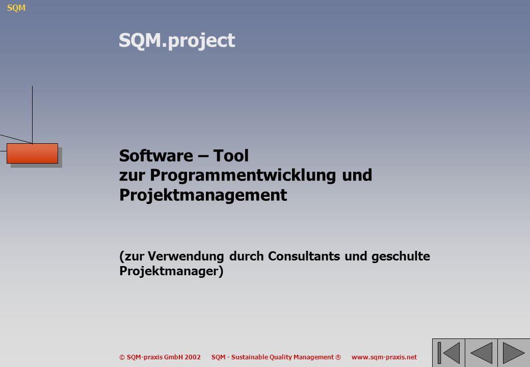 SQM.project Software – Tool zur Programmentwicklung und Projektmanagement.