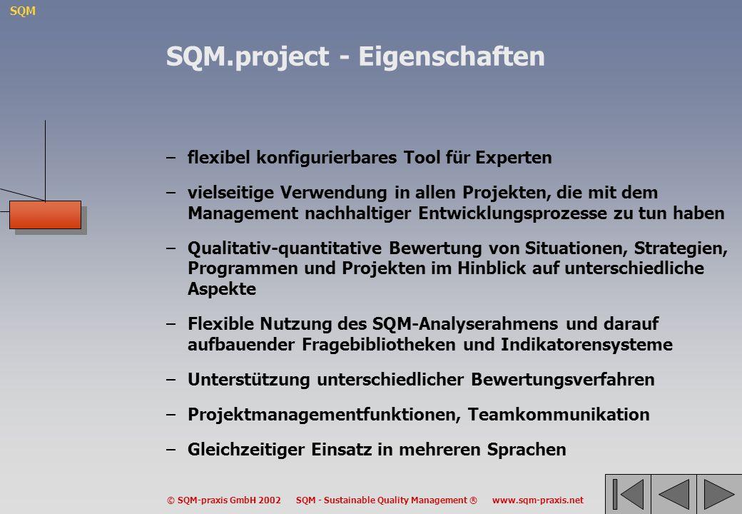 SQM.project - Eigenschaften