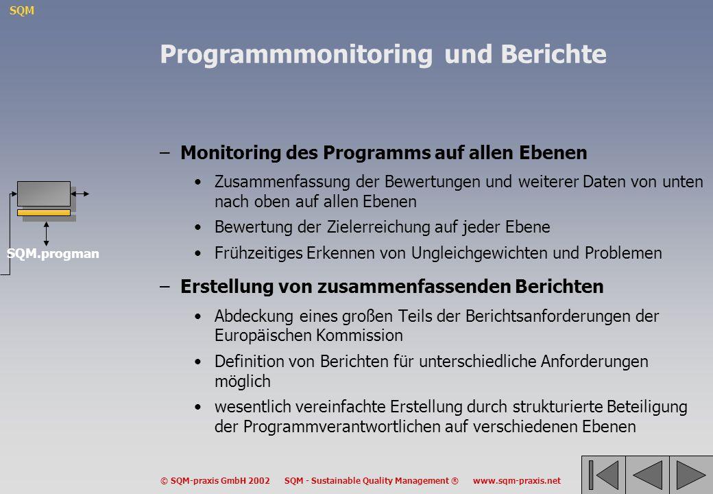Programmmonitoring und Berichte