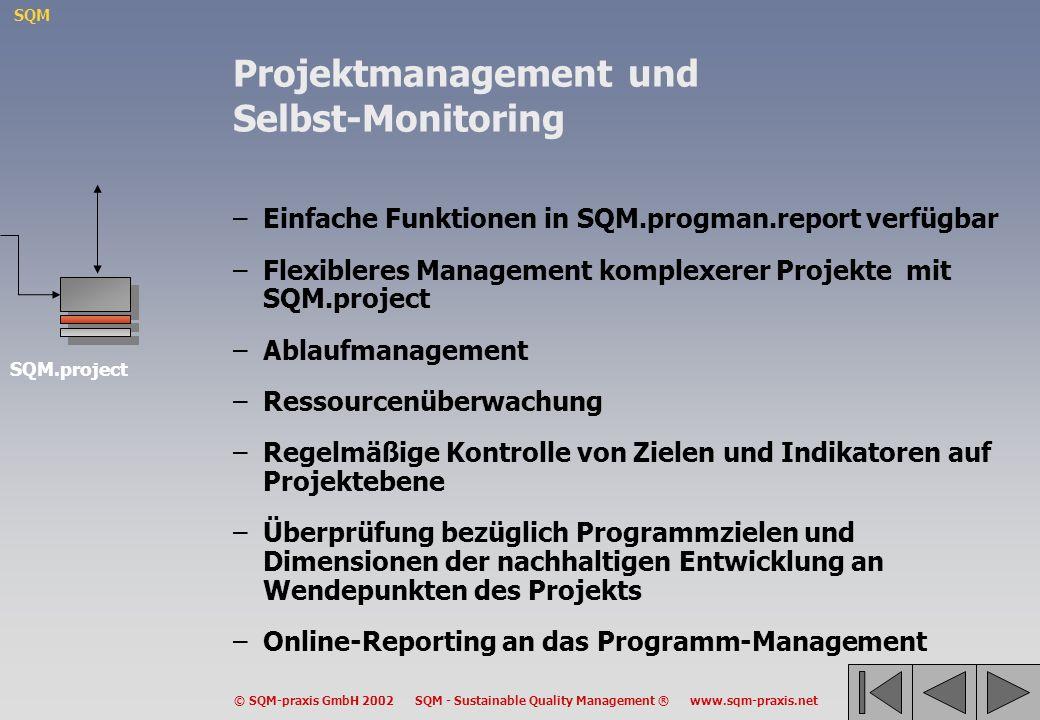 Projektmanagement und Selbst-Monitoring
