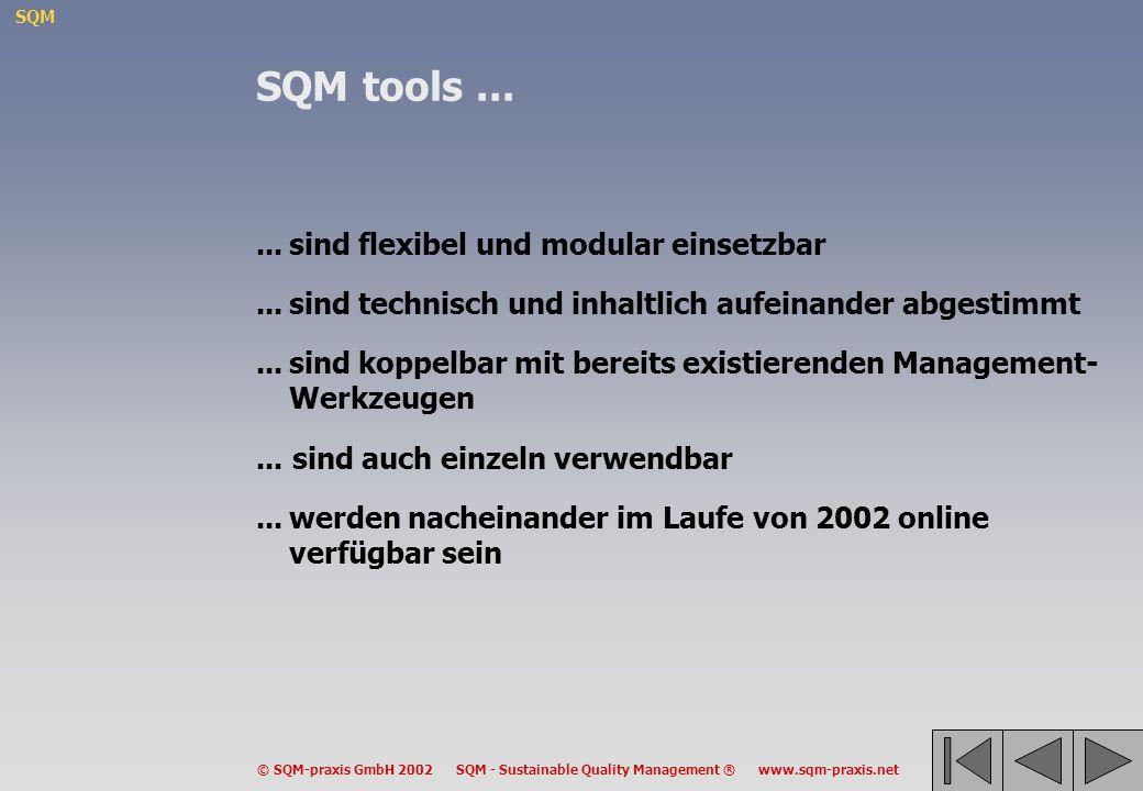 SQM tools ... ... sind flexibel und modular einsetzbar
