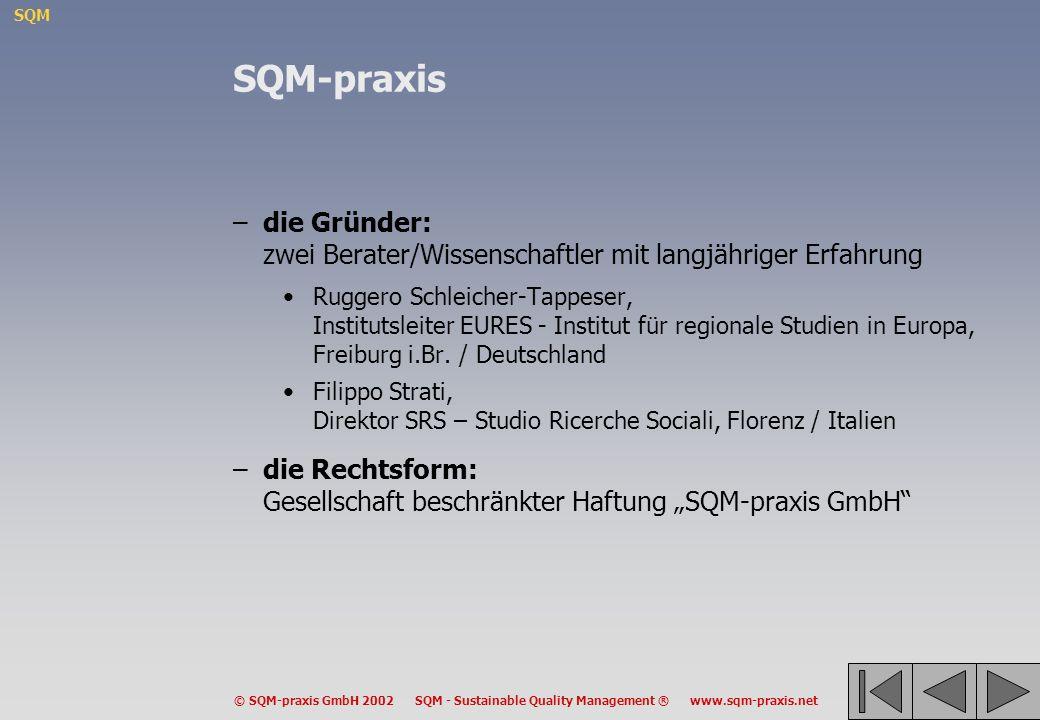 SQM-praxis die Gründer: zwei Berater/Wissenschaftler mit langjähriger Erfahrung.