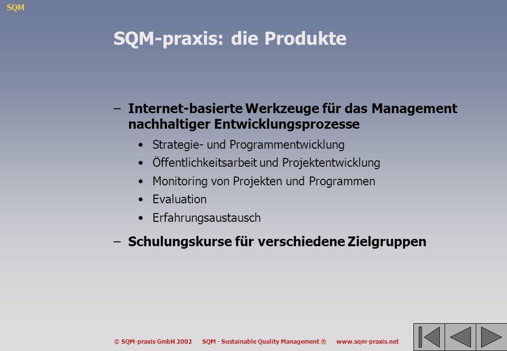 SQM-praxis: die Produkte
