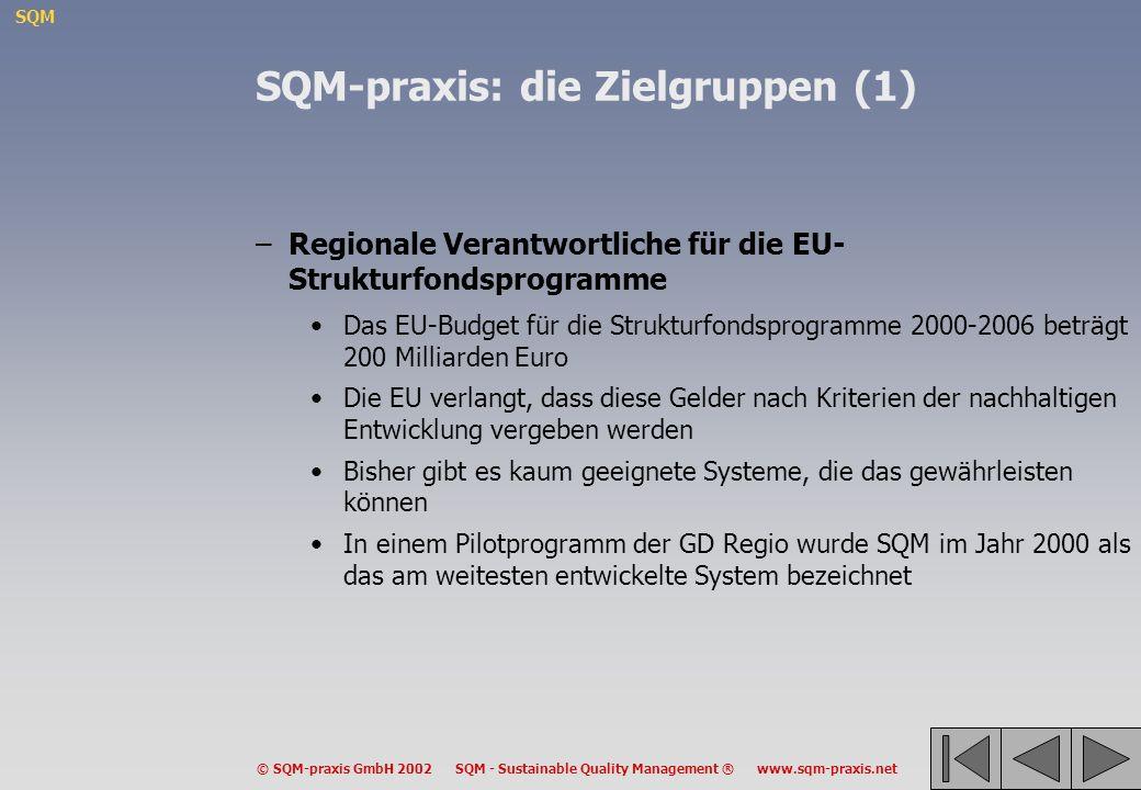 SQM-praxis: die Zielgruppen (1)