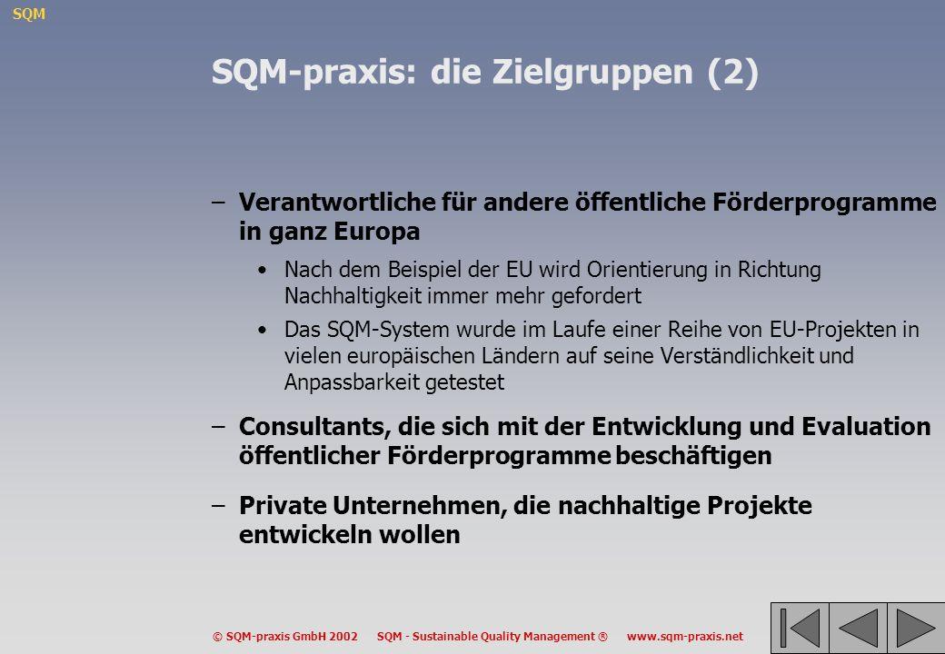 SQM-praxis: die Zielgruppen (2)