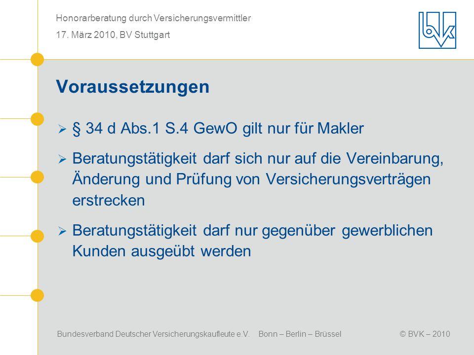 Voraussetzungen § 34 d Abs.1 S.4 GewO gilt nur für Makler