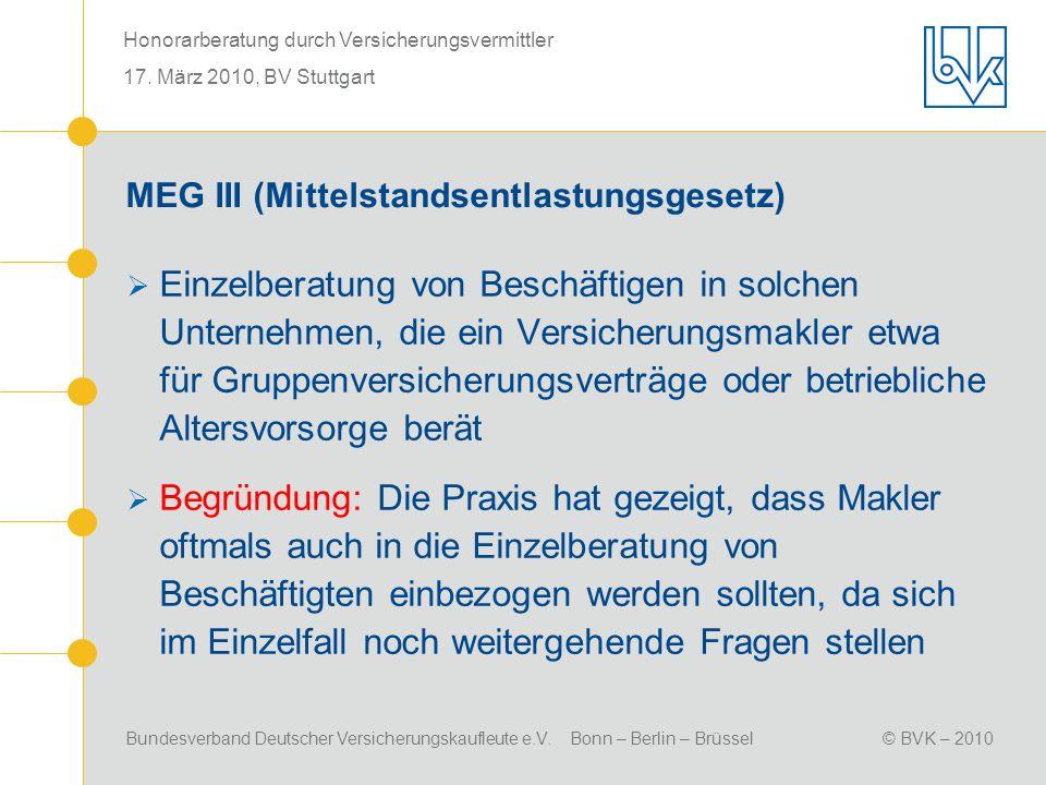 MEG III (Mittelstandsentlastungsgesetz)