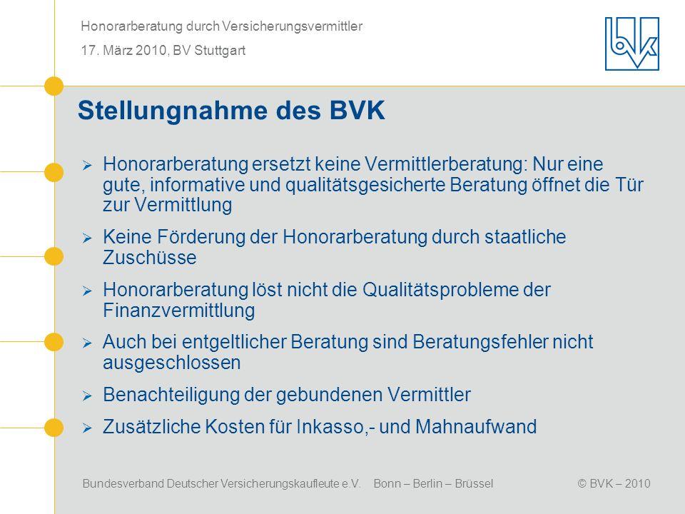 Stellungnahme des BVK