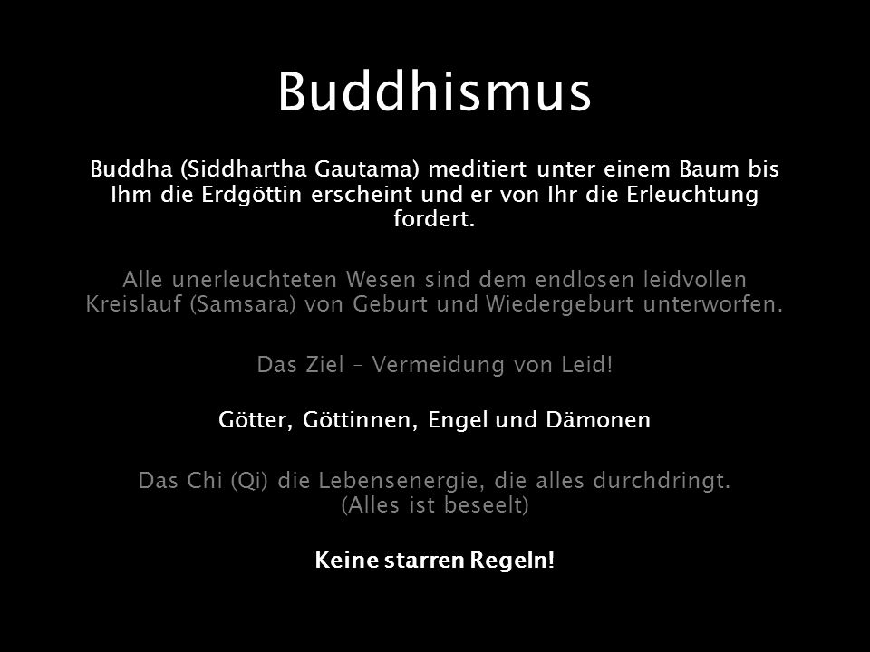 Buddhismus Buddha (Siddhartha Gautama) meditiert unter einem Baum bis Ihm die Erdgöttin erscheint und er von Ihr die Erleuchtung fordert.