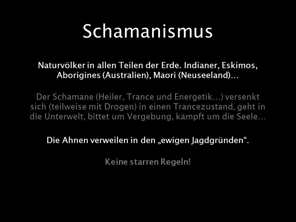 """Die Ahnen verweilen in den """"ewigen Jagdgründen ."""