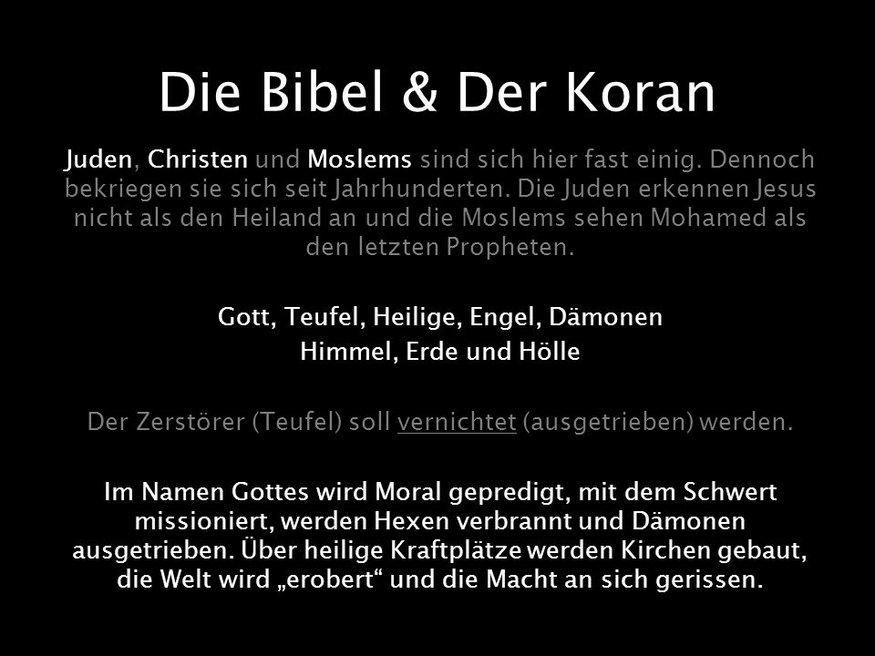 Die Bibel & Der Koran