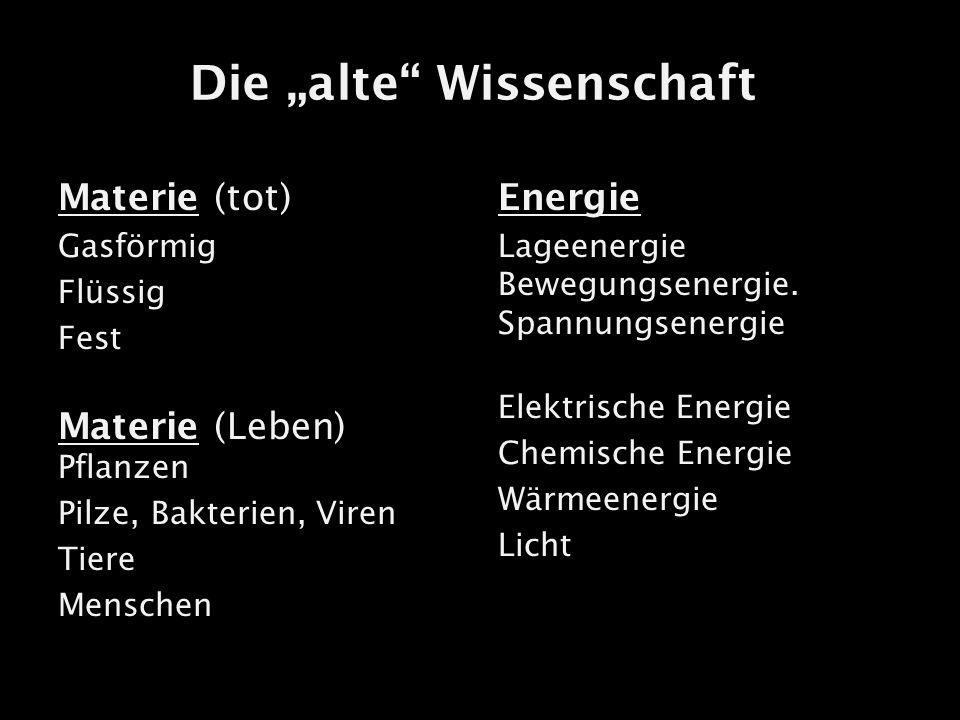 """Die """"alte Wissenschaft"""