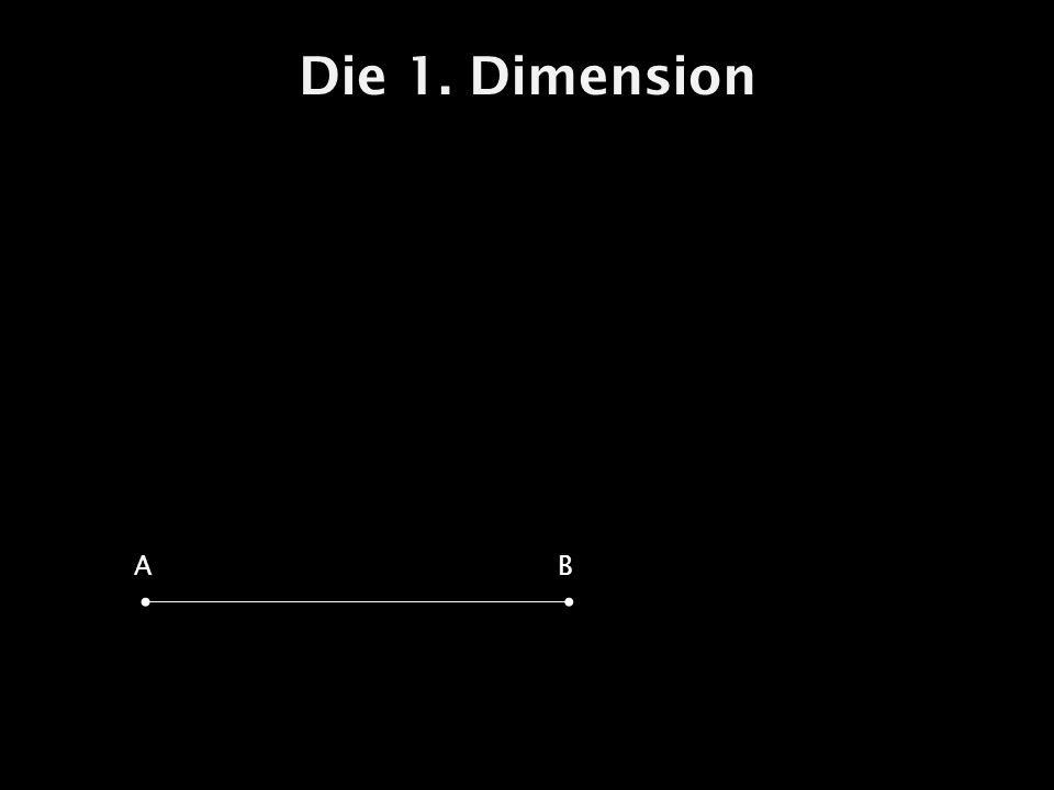 Die 1. Dimension A B