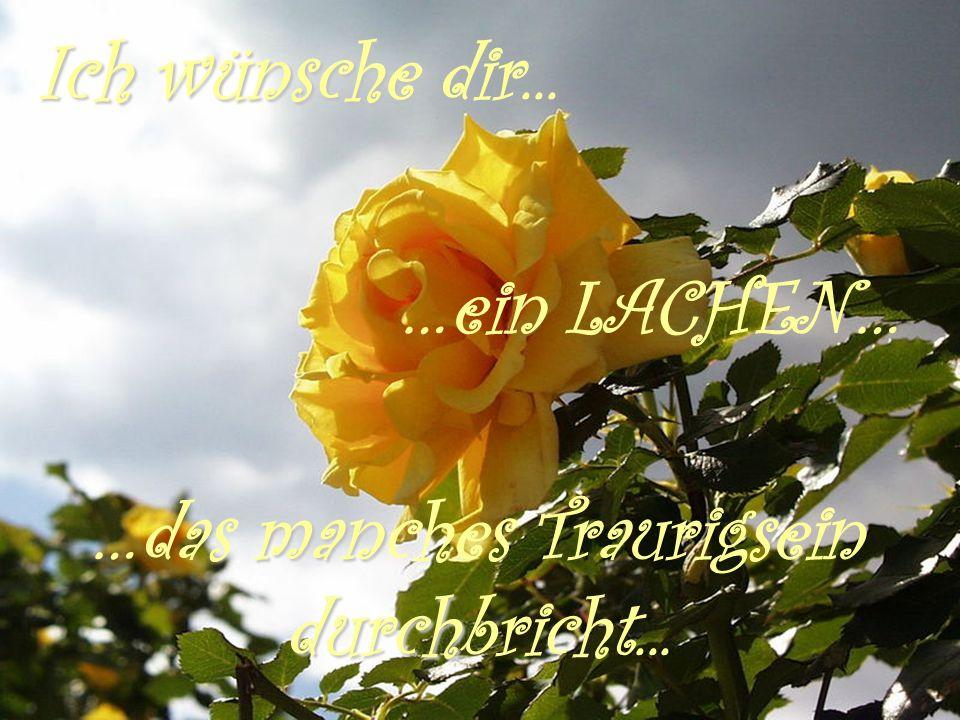 Ich wünsche dir... …ein LACHEN… …das manches Traurigsein durchbricht...