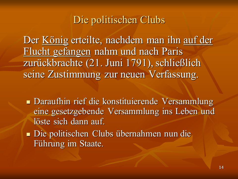 Die politischen Clubs