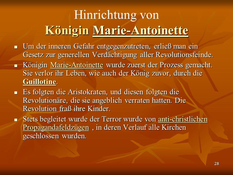 Hinrichtung von Königin Marie-Antoinette