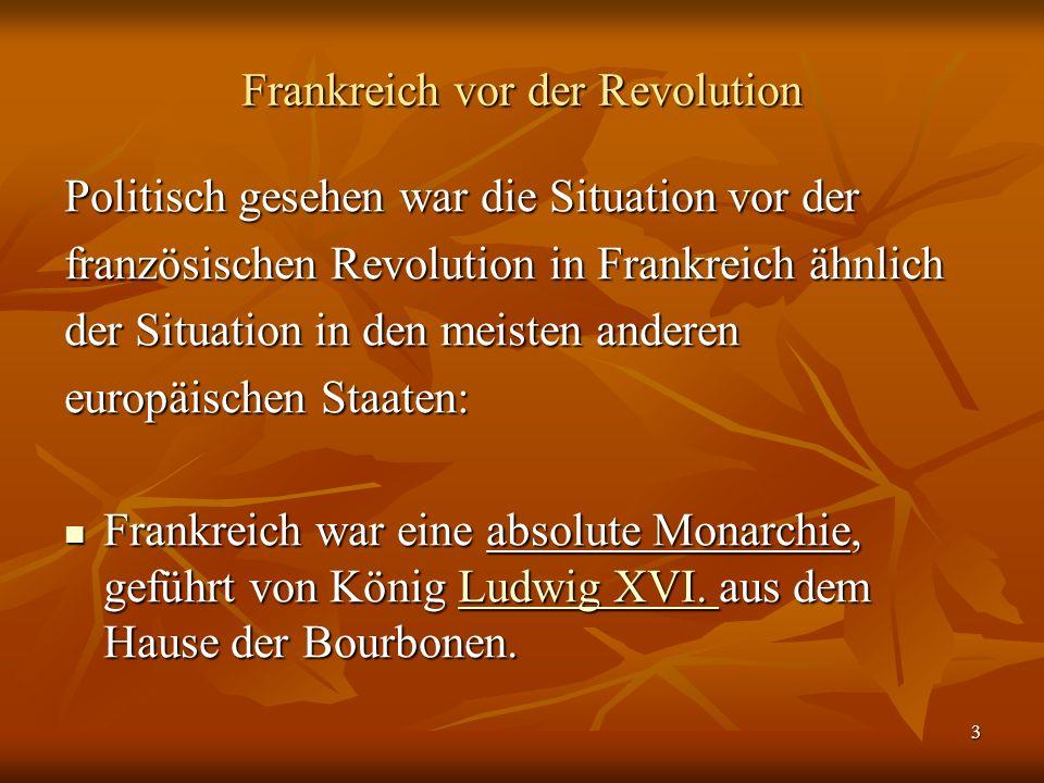 Frankreich vor der Revolution