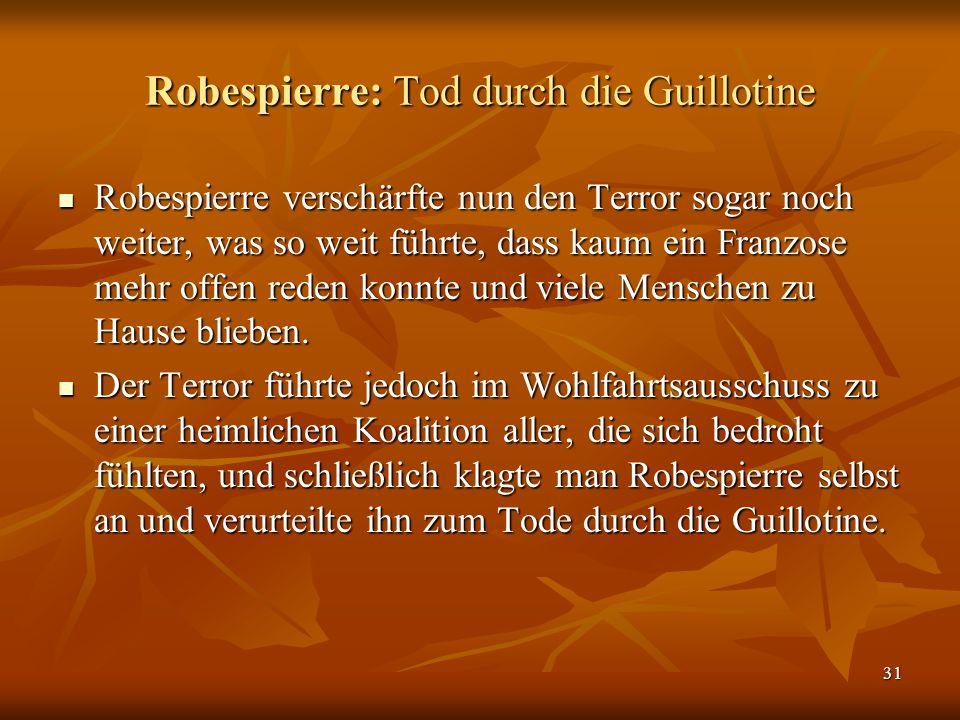 Robespierre: Tod durch die Guillotine