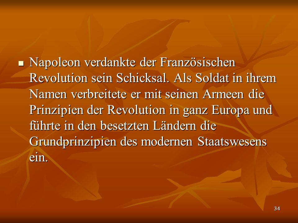 Napoleon verdankte der Französischen Revolution sein Schicksal