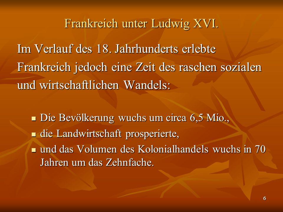 Frankreich unter Ludwig XVI.