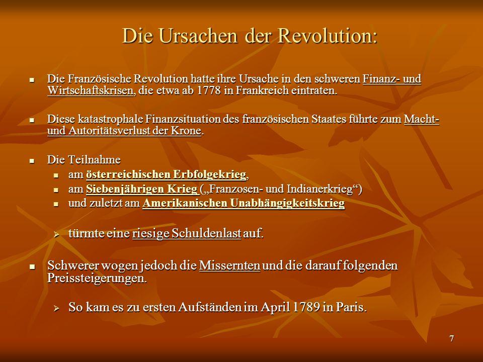 Die Ursachen der Revolution: