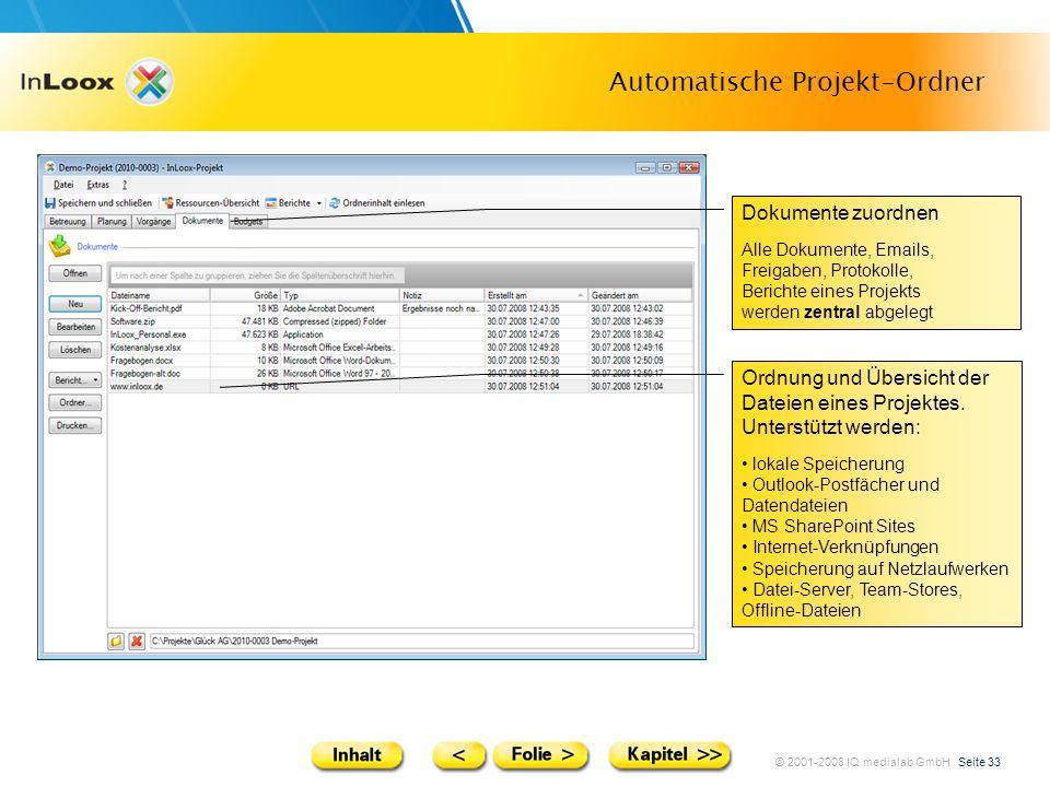 Automatische Projekt-Ordner