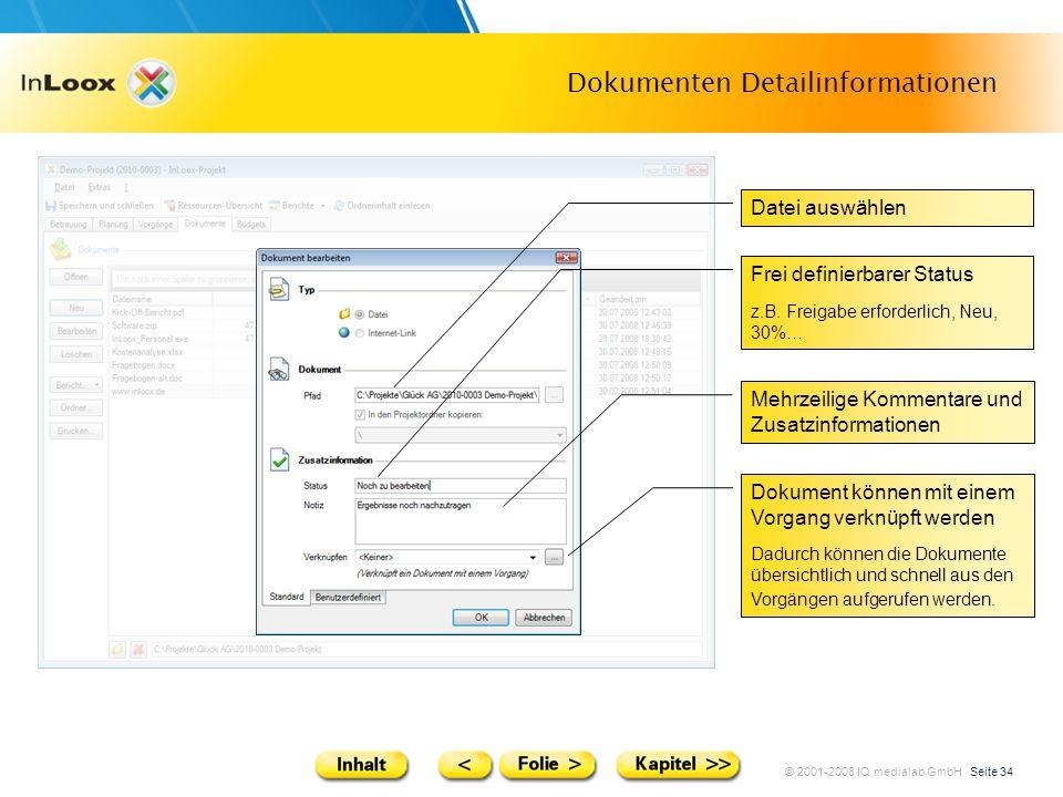 Dokumenten Detailinformationen