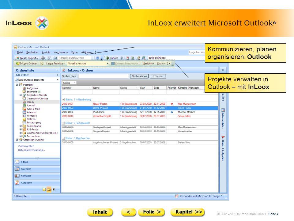 InLoox erweitert Microsoft Outlook©