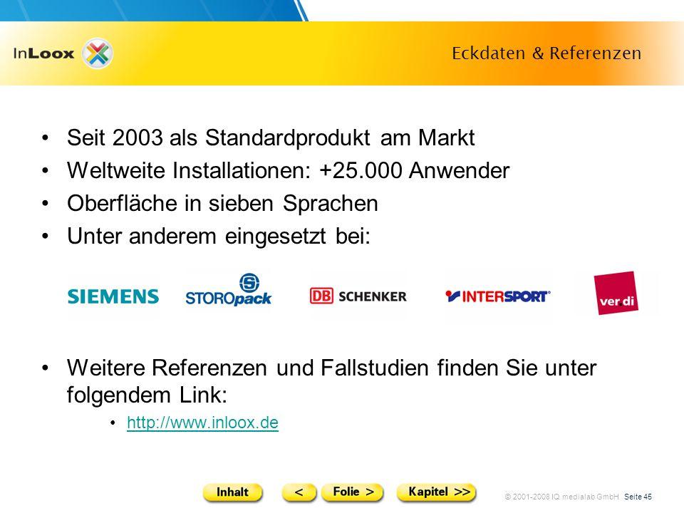 Seit 2003 als Standardprodukt am Markt