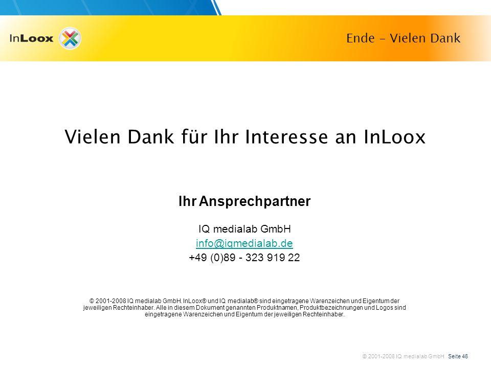 Vielen Dank für Ihr Interesse an InLoox