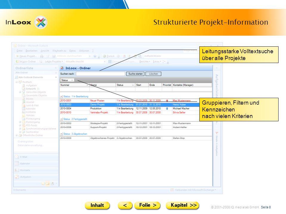 Strukturierte Projekt-Information