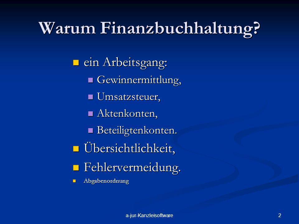 Warum Finanzbuchhaltung