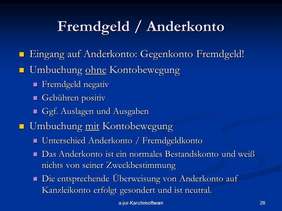 Fremdgeld / Anderkonto