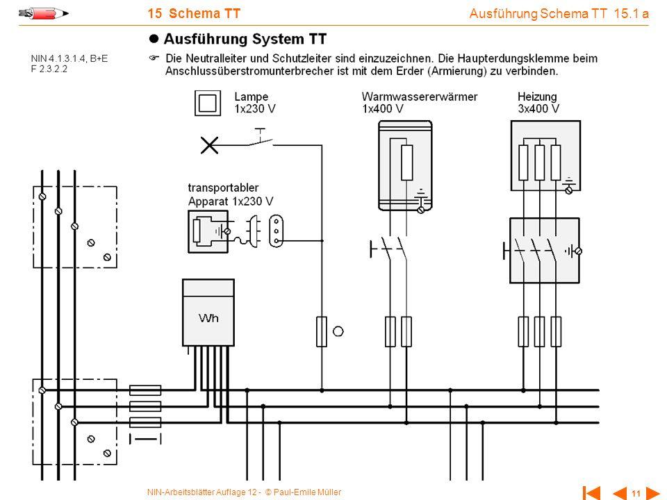 15 Schema TT Ausführung Schema TT 15.1 a
