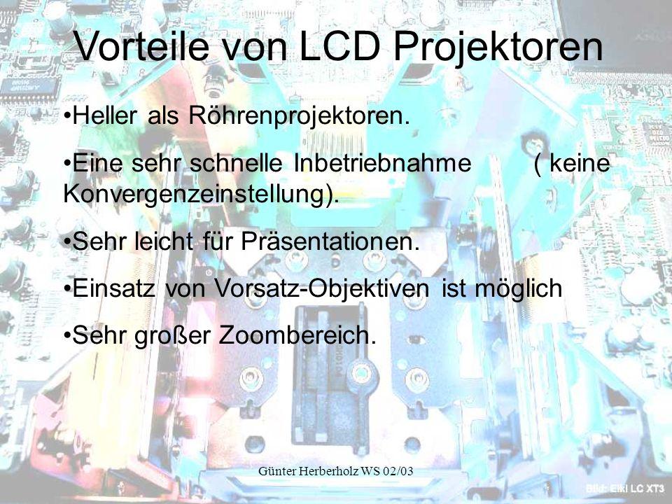 Vorteile von LCD Projektoren