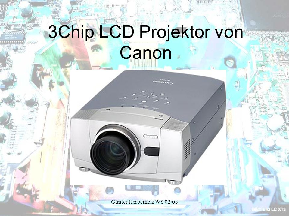 3Chip LCD Projektor von Canon