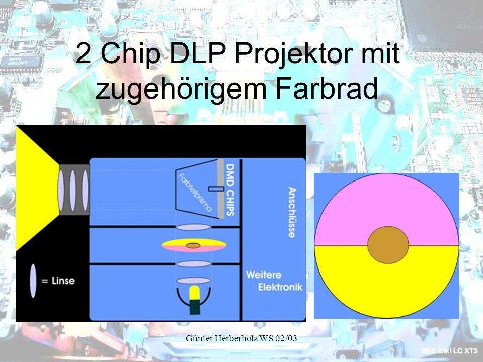 2 Chip DLP Projektor mit zugehörigem Farbrad