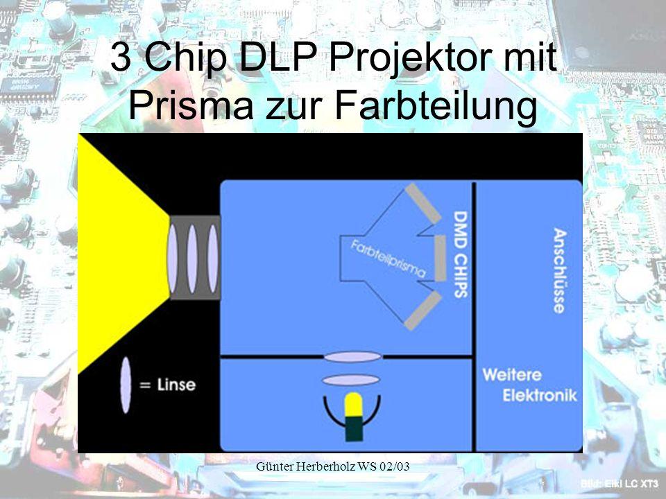 3 Chip DLP Projektor mit Prisma zur Farbteilung