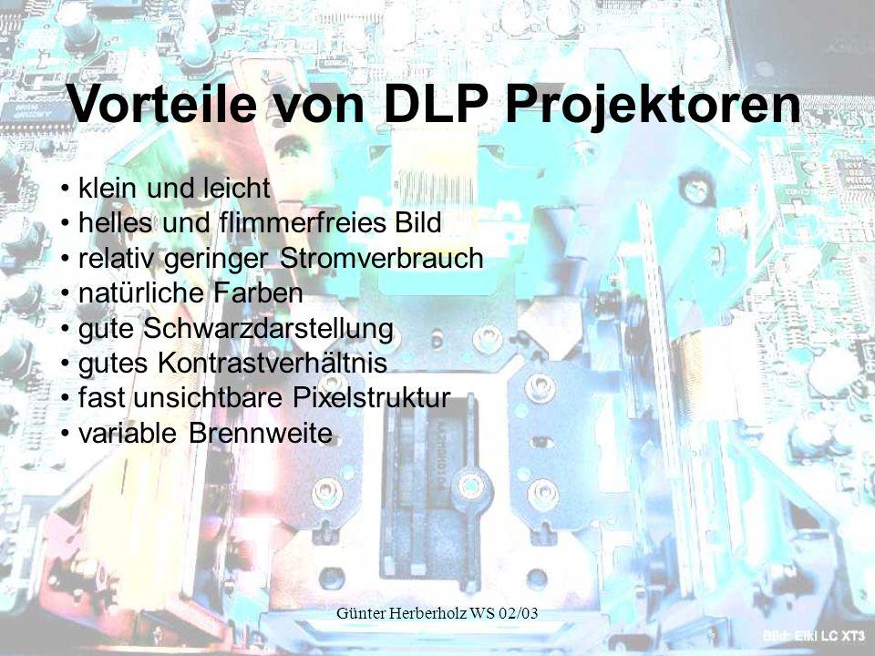 Vorteile von DLP Projektoren