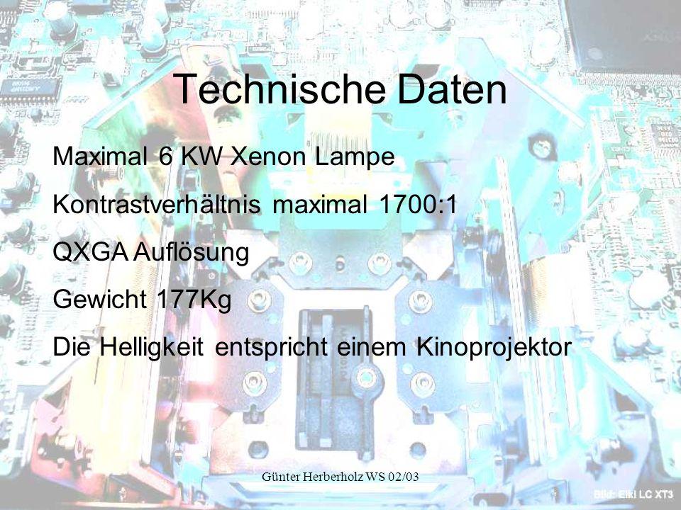 Technische Daten Maximal 6 KW Xenon Lampe