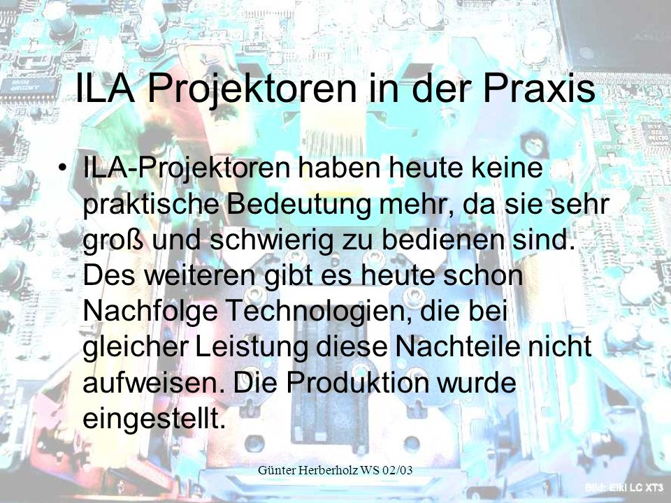 ILA Projektoren in der Praxis