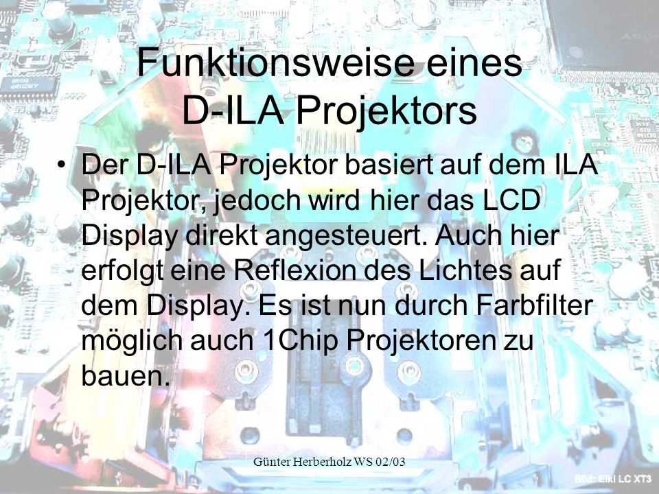 Funktionsweise eines D-ILA Projektors