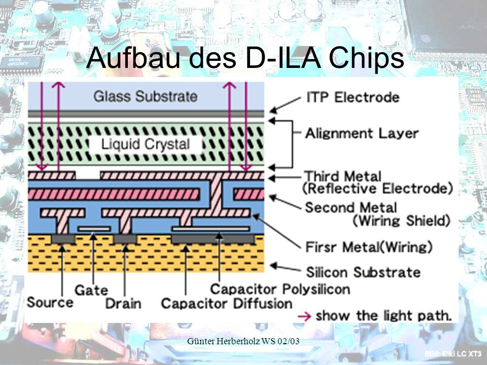 Aufbau des D-ILA Chips Günter Herberholz WS 02/03