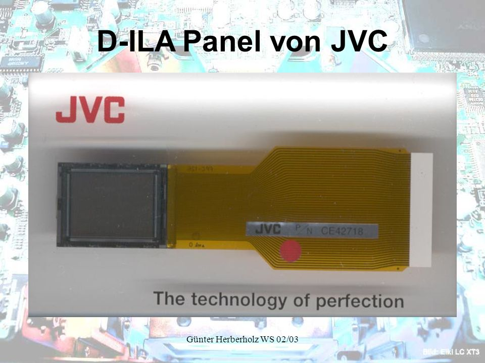 D-ILA Panel von JVC Günter Herberholz WS 02/03