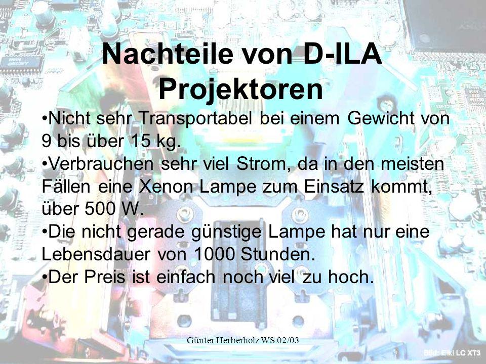 Nachteile von D-ILA Projektoren
