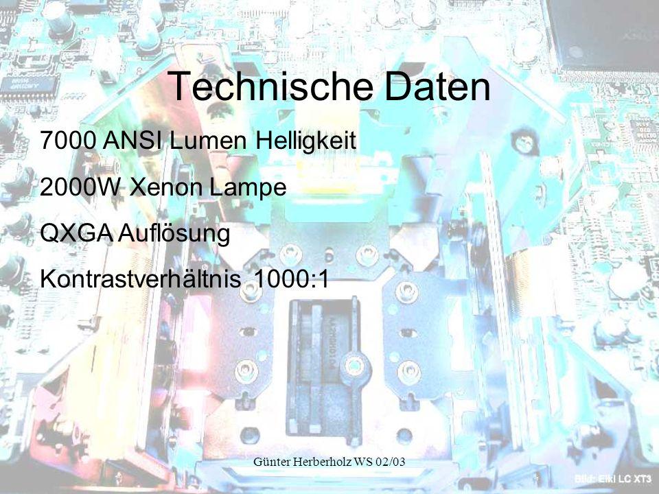 Technische Daten 7000 ANSI Lumen Helligkeit 2000W Xenon Lampe